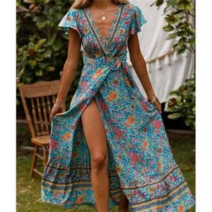 ❤️ 💕2 DAY SALE💕❤️  floral wrap dress, women's